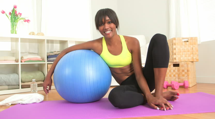 Hamstring with exercise ball